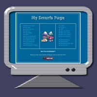 Click Here - Smurf Theme